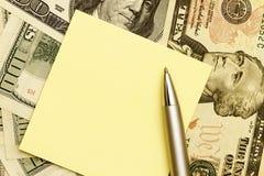 Meldung über Dollar lizenzfreie stockbilder