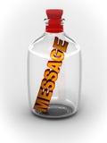 Meldung in der Flasche lizenzfreie abbildung