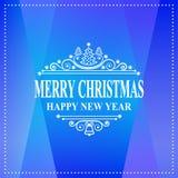 Meldung des glücklichen neuen Jahres Feiertagswunsch der frohen Weihnachten Grußkarte, Einladung, Broschüre, Fliegerdesign Lizenzfreies Stockfoto