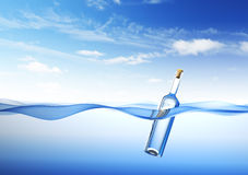 Meldung in einer Flasche vektor abbildung