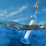 Mitteilung in einer Flasche Stockbilder