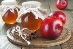 Mele, cannella e miele Fotografia Stock