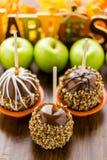 Mele di caramello Fotografia Stock