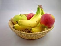 Mele e banane Immagine Stock Libera da Diritti