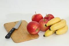 Mele e banane Immagini Stock Libere da Diritti