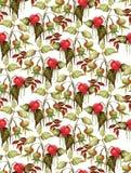 mele e foglie su un fondo bianco illustrazione vettoriale