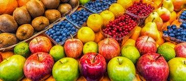 Mele e frutti Fotografia Stock