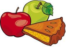 Mele e grafico a torta di mela royalty illustrazione gratis