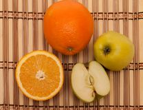 Mele ed arance Fotografia Stock