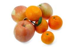 Mele ed aranci Immagini Stock