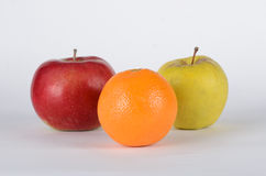Mele ed arancia Fotografie Stock