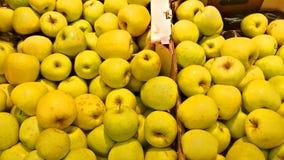 Mele gialle fresche Immagine Stock