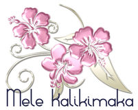 Mele Kalikimaka Merry Christmas Hawaiian. Designed with a lovely Hawaiian orchid flowers stock illustration