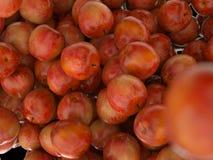 Mele mature rosse di cibo sano Fotografia Stock