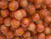 Mele mature rosse saporite Immagine Stock