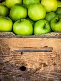Mele organiche ad un mercato Fotografia Stock