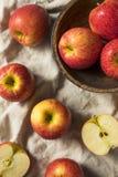 Mele organiche rosse crude di invidia fotografie stock