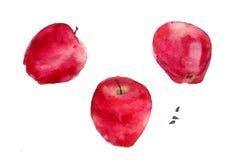 Mele rosse Royalty Illustrazione gratis