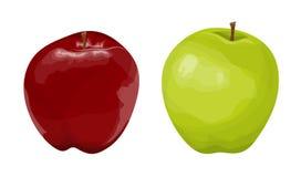 Mele rosse e verdi royalty illustrazione gratis