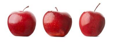 Mele rosse isolate su bianco Fotografia Stock Libera da Diritti