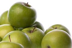 Mele verdi isolate Immagine Stock