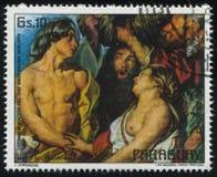 Meleagro com o Atalanta por Jordaens Fotos de Stock Royalty Free