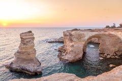 Italy, Santo Andrea cliffs in Puglia Stock Photo