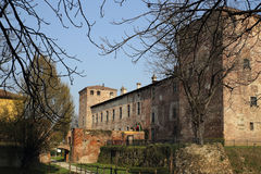 Melegnano Castle Stock Photo