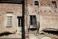 Melegnano Castle. Details window View of Melegnano's Castle Italy Royalty Free Stock Photo