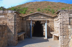 Melek Chesmen tomb in Kerch, Crimea, Ukraine Royalty Free Stock Images