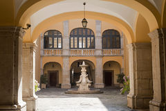 Melfi (Italy) - corte do palácio histórico Fotos de Stock Royalty Free