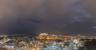Melfi by night royalty free stock photography