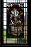 Melford霍尔Stainglass窗口 库存图片