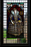 Melford Hall Stainglass Window Stockbild