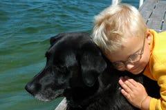 Melhor amigo do menino Imagem de Stock