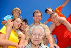 A melhor avó Fotografia de Stock Royalty Free