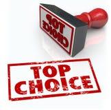 Melhor avaliação bem escolhida superior do feedback da revisão do selo do produto Imagens de Stock
