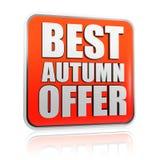 A melhor bandeira da oferta do outono Fotografia de Stock