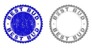 MELHOR BUD Grunge Stamps Textured ilustração royalty free