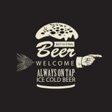 A melhor cerveja na cidade Foto de Stock Royalty Free
