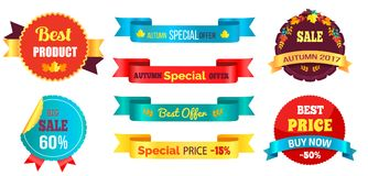A melhor compra agora Autumn Offer Percent especial do preço Imagem de Stock