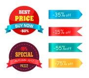 A melhor compra agora Autumn Offer Percent especial do preço Ilustração Stock
