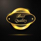 Melhor crachá dourado da qualidade Imagem de Stock
