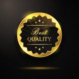 Melhor crachá dourado da qualidade Foto de Stock Royalty Free
