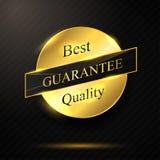 Melhor crachá dourado da qualidade Imagens de Stock Royalty Free