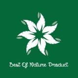Melhor da etiqueta do produto da natureza Foto de Stock Royalty Free