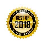 Melhor de 2018 ilustração stock