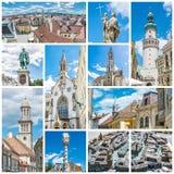 Melhor de Sopron em Hungria, colagem fotos de stock