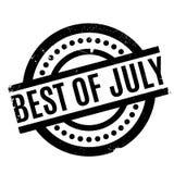Melhor do carimbo de borracha de julho Foto de Stock Royalty Free