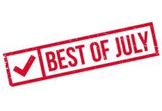 Melhor do carimbo de borracha de julho Imagem de Stock
